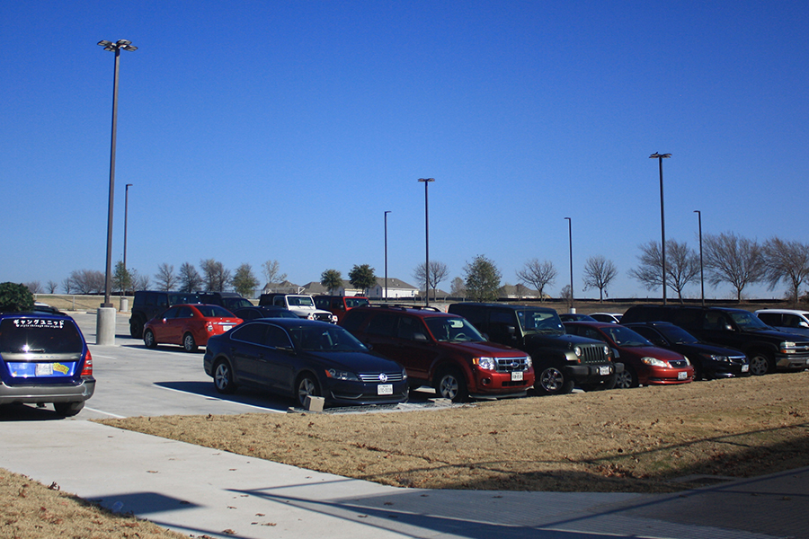 After months of construction, students can now use the parking lot located near the field house. The lot will now compensate for the spots lost to band's practice space, and the overflow of student cars.