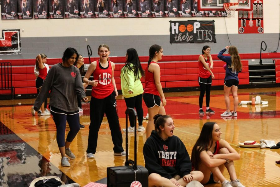 Preparations for contest season are underway for the Red Rhythm Dance Team with the face-to-face contest set for Feb. 13 and Feb. 27 for the virtual competition.