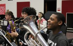 While students are no longer able to play side by side for their concert season, the band directors have come up with an alternative. Students will now send in a video clip of their part for it to be compiled into a larger video, simulating a concert.