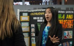Senior Annie Tian presents her studies on orthodontics at the ISM Research Showcase at The Star last school year.  The event was cancelled this year for ISM students  due to COVID-19.