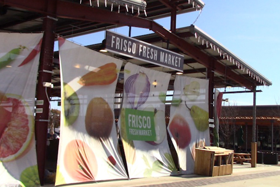 Only a mile down Main Street from The Heritage Table, Frisco Fresh Market hosts booths of local and regional businesses. The booths sell various products, ranging from fresh fruits and vegetables, to organic soaps and lotions.