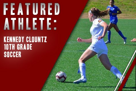 Sophomore Kennedy Clountz runs the ball down the field toward. Already in a verbal commitment to play for TCU, Clountz doesn't on plan stopping the sport anytime soon.