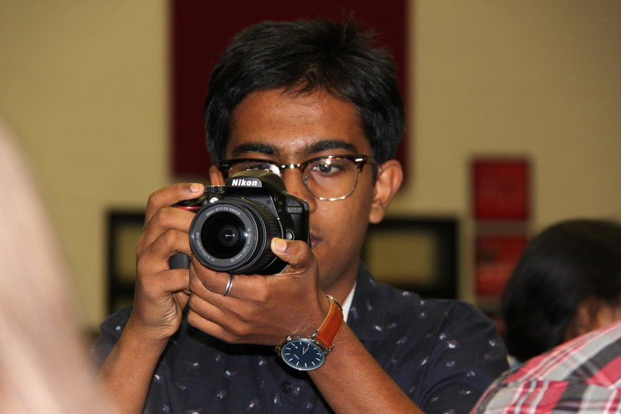 Focusing on photography and short films, junior Deva RajeevNair looks to use his camera to capture the world around him. While photography isn't a serious career goal for RajeevNair, he looks to improve his skills in the field, bu watching videos and learning from other more experienced photographers.