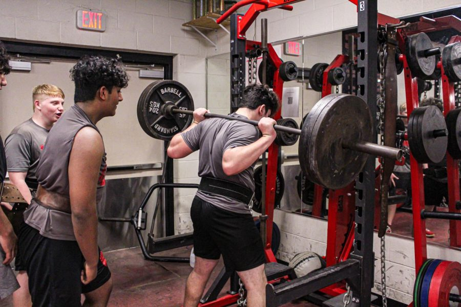 While they did not have access to the school's weight room due to the Feb. winter storms, the powerlifting team improvised in their preparation for the regional meet on Thursday.