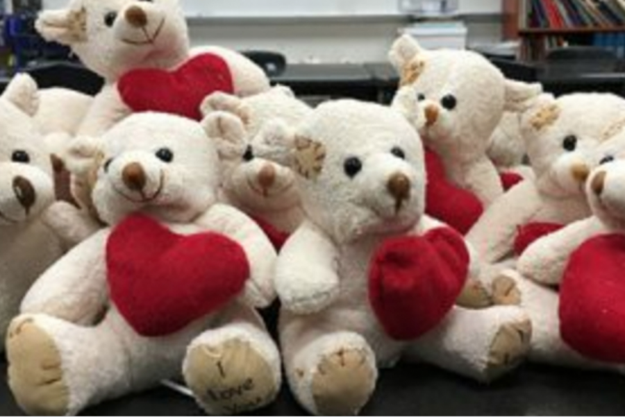 Taking a page from a Christmas gift exchange, some choir students took part in a Secret Valentine's gift exchange on Thursday, Feb. 13, 2020. The idea was hatched by several freshmen as something to do for with their classmates on a day choir director Toni Ugolini was absent.