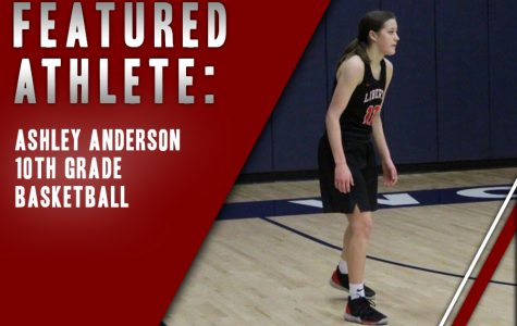One of four sophomores on the girls' varsity team, Ashley Anderson plays as a guard. Ahead of Tuesday's playoff game against Centennial, Anderson believes the young Redhawk team has what it takes to defeat the Titans.