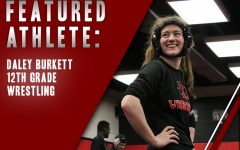 Standing up during training in class, senior Daley Burkett is coming off of a first place finish in the district tournament last week. Now preparing for Regionals, Daley credits wrestling with shaping her into the person she is today.