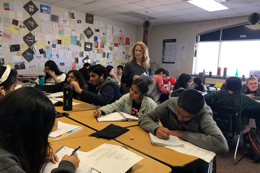 Putting their skills to use, Pre-AP II French classes learn to use different tenses while researching a variety of French-speaking countries. In addition, students had the chance to understand  the types of French speakers around the world.