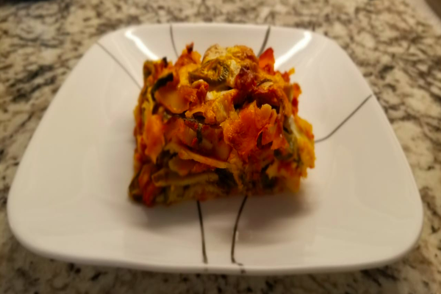 Making+a+vegetarian+lasagna+may+seem+simple%2C+but+Girish+believes+she+has+perfected+her+recipe.+Not+only+is+this+dish+great+for+dinners+with+family+and+friends%2C+but+also+a+great+way+to+clean+out+your+refrigerator+of+any+and+all+kinds+of+vegetables+before+they+go+bad.++