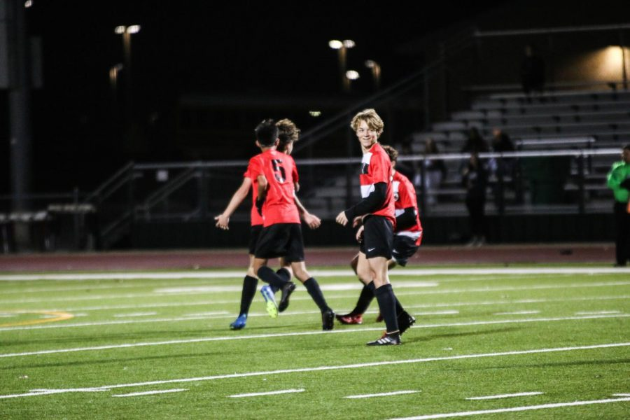 """Redhawks soccer teams play at Toyota Stadium on Tuesday, with the girls kicking off at 5:30 p.m. and the boys to follow. """"We are working on corners and getting used to the bigger field,"""" freshman Teagan Jaussi said."""