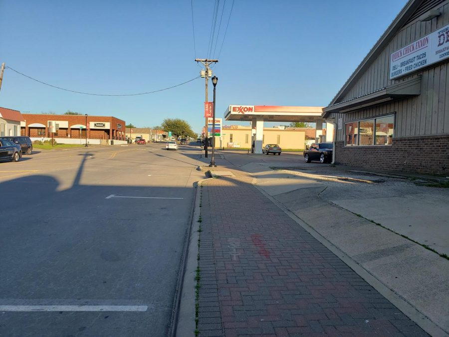Pictured by the intersection of Main St. and 2nd St., business and roads in Frisco's Rail District were nearly empty following Collin County's stay-at-home order that took effect in March.