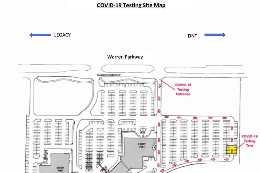 Drive-thru+COVID-19+testing+opens+in+Frisco