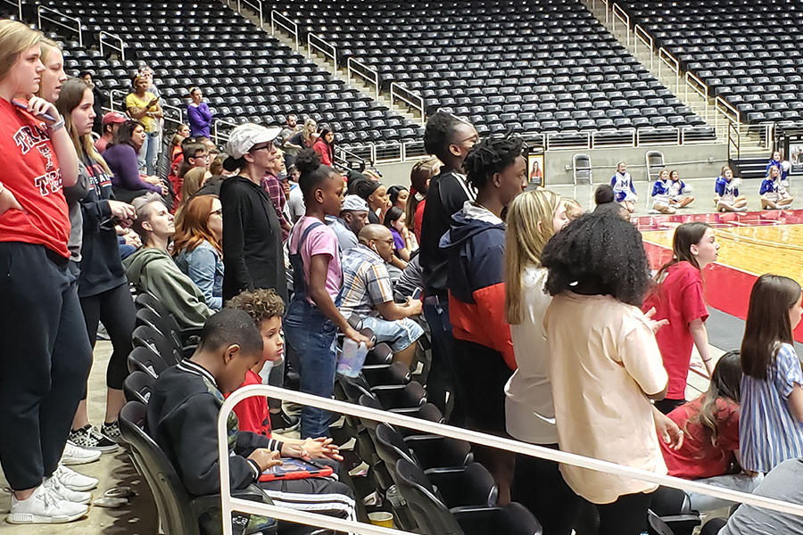 The back and forth nature of Saturday's 5A Region II final in Garland had many Redhawks fans on their feet for the duration of all three overtimes. The Redhawks will be back on the court Thursday in San Antonio for the 5A state semifinals.