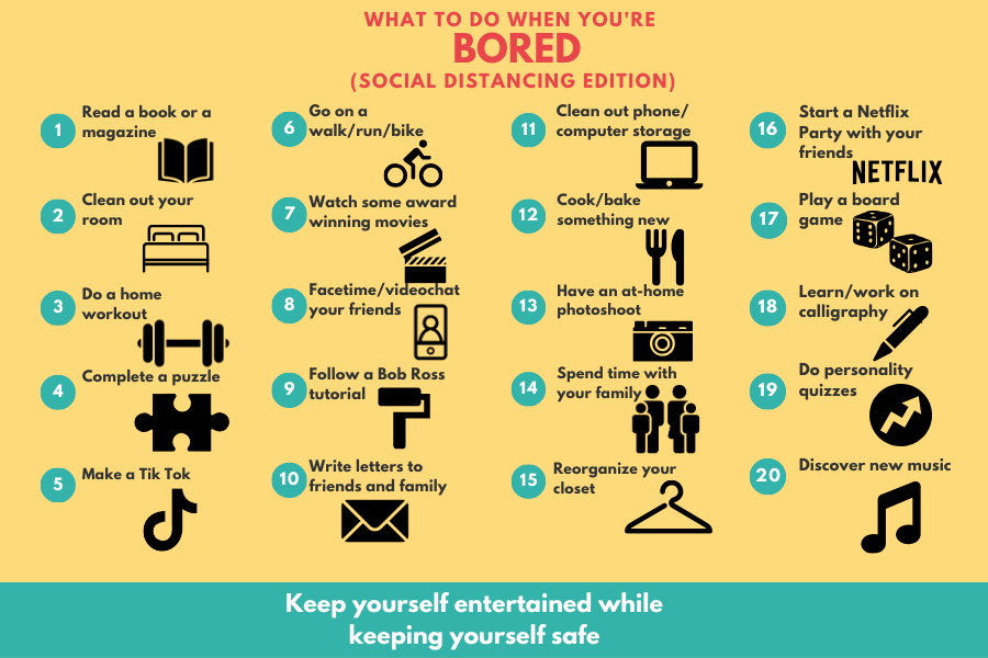 20 things to do while social distancing