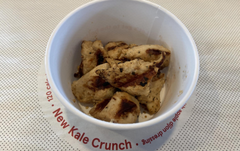 Grilled chicken bits fall flat