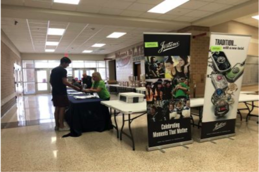 In previous years, students have gone to grab their cap and gown during the school day, at a Jostens booth on campus. With social distancing in place, students will be able to visit campus to pick up their graduation gear Thursday in the school parking lot.