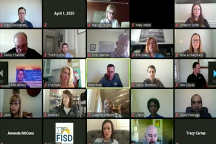 Holding its first virtual meeting, the Frisco ISD Board of Trustees, along with other district leaders, held a special session Wednesday morning to discuss the ongoing impact of COVID-19. On Tuesday, Gov. Greg Abbott suspended all in-person classes for public schools throughout the state of Texas until May 1.
