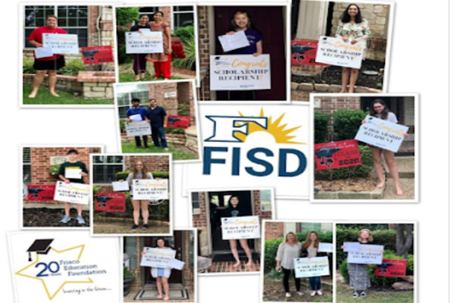 With+it%27s+annual+Scholarship+Night+cancelled+due+to+limitations+of+social+interactions%2C+this+year+the+Frisco+Education+Foundation+delivered+news+of+scholarships+to+the+homes+of+students.+