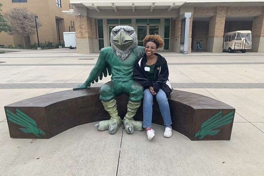 Senior Kennedy Williams visited the University of North Texas in the fall, now she is ready to become an eagle in August. However with COVID-19 cutting the school year short, some are in fear of the fall semester going online as well.
