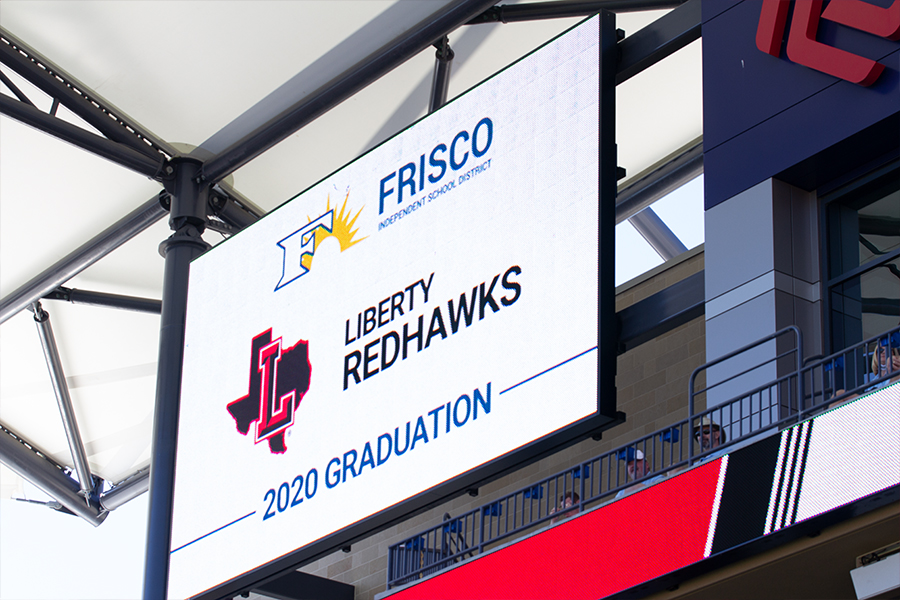 With 10 Frisco ISD graduations at Toyota Stadium over the course of four days, Liberty's graduation took place at 8 a.m. on Saturday, May 30, 2020.