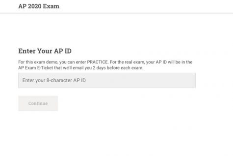 "Using their 8-character AP ID or by entering the word ""PRACTICE"", students can see how their AP exams will be formatted and conducted. The exam demo can be found at ap2020examdemo.collegeboard.org"