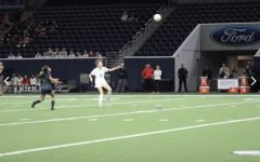 On Thursday in the middle of soccer practice senior Kallin Brown went to the bathroom and got stuck. After an hour and a half and a call to the Frisco Fire Department, she was able to get out safely.
