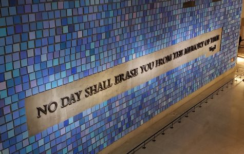 Occupying a huge wall in the 9//11 Memorial & Museum, this mural created by Spencer Finch is titled