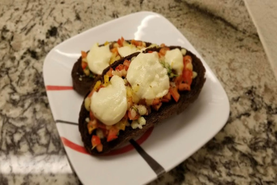A visit to the store resulted in a finger millet  bread discovery. With this gluten free bread, Girish explains how to make a classic tomato bruschetta.