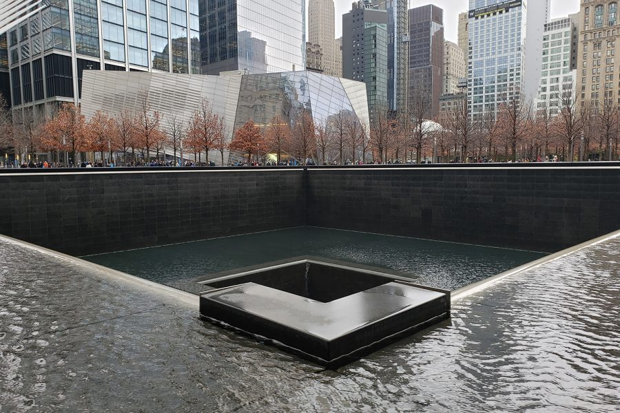 The design of the 9/11 Memorial was chosen from more than 5,000 contest submissions. The winning entry was  submitted by architect Michael Arad and landscape architect Peter Walker, and is called