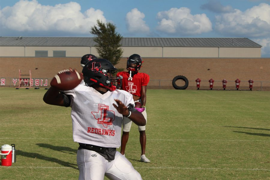 Following a 21-7 scrimmage against Royse City on Aug. 20, the Redhawks make preparations for the first game of the year against Reedy. The team lost to Reedy 35-27 last year but hopes to turn the score around this season.