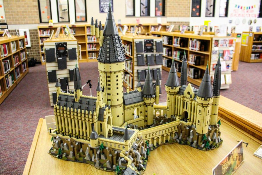 More than a dozen years after the final book was published, Harry Potter is still big on campus, from students to teachers. So members of the staff Harry Potter Club decided to bring the spirit to the library by building a mini version of Hogwarts.