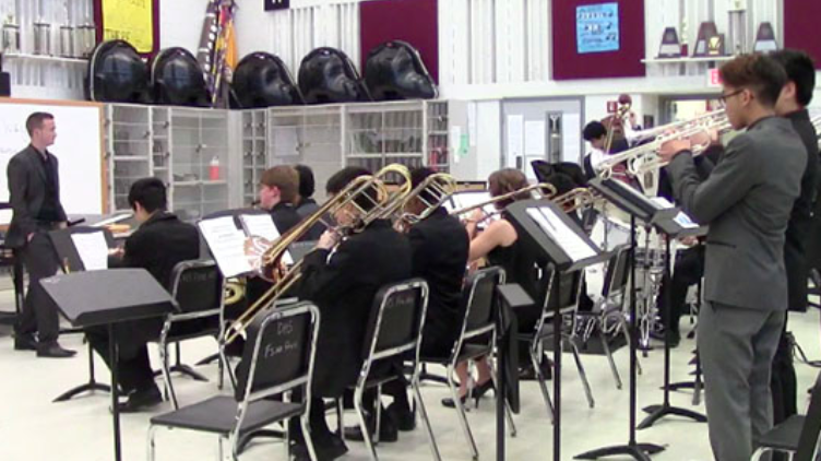 """As jazz band auditions approach, the process will look different this year due to COVID-19. Rather than playing in front of directors, students will submit a video of their work. """"I think it's good that they are still doing auditions because there is the saying that the show must go on and though it may happen virtually, it's good that they are continuing and letting us continue our passion, senior Aadit Chadbury said."""