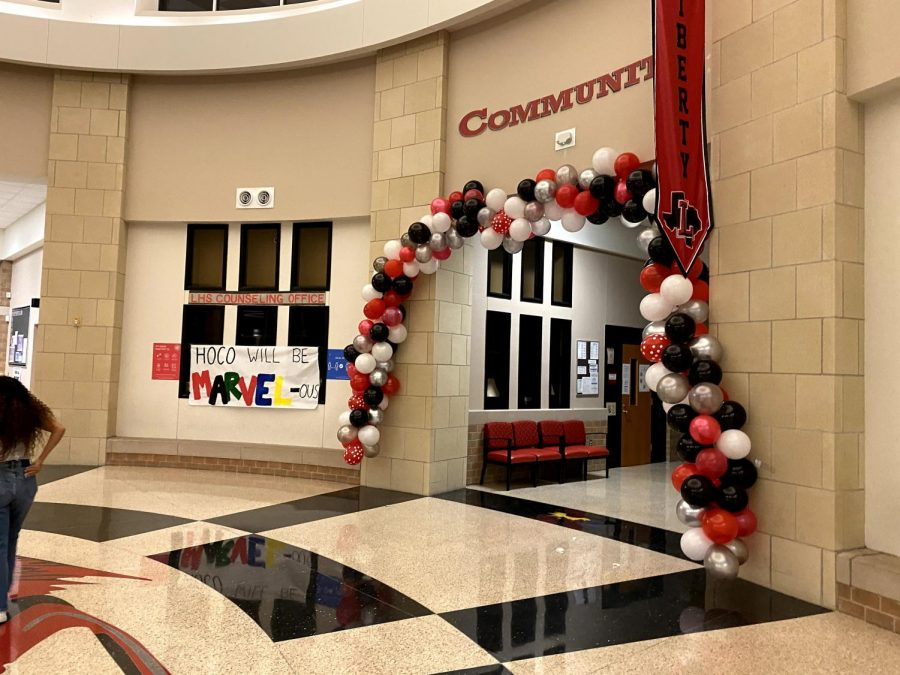 While there may be no dance to finish the week, Student Council and cheer gathered Sunday evening to transform the school for homecoming week.