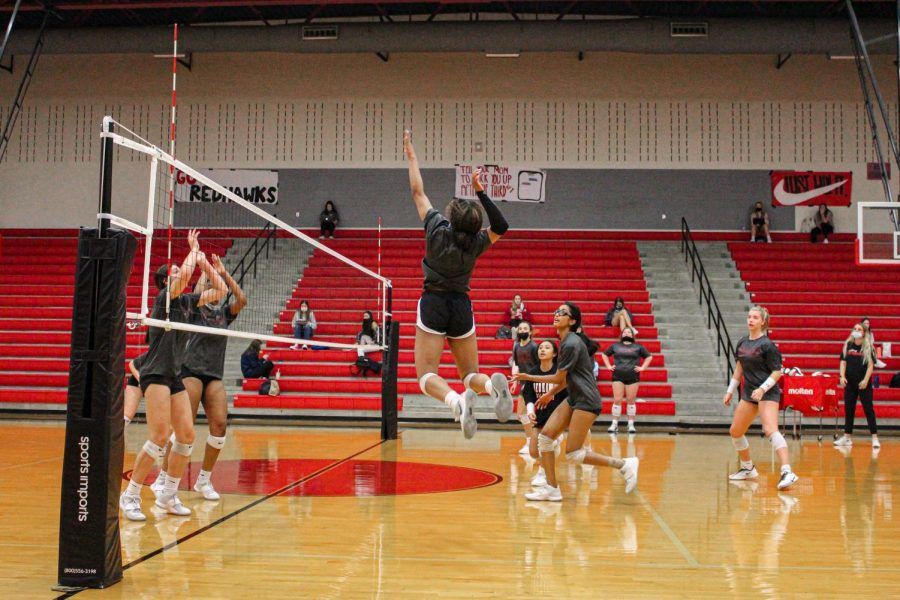 The volleyball team takes the court Saturday at 2:00 P.M. This will be the last regal preseason game, before the team begins their playoff run.