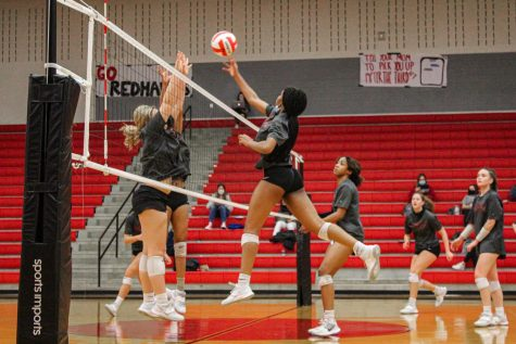 With only four games left of their regular district season, Volleyball heads to Heritage High School for a District 9-5A match-up against the Heritage Coyotes. The team is dependent on these final few games to secure a spot in playoffs.