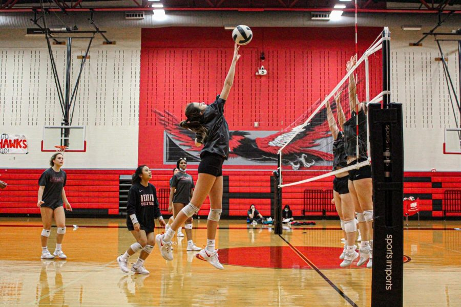 The+Redhawks+secure+their+second+win+of+the+season+Friday+night+against+the+Wakeland+Wolverines.+The+team+now+stands+at+2-3+in+District+9-5A.