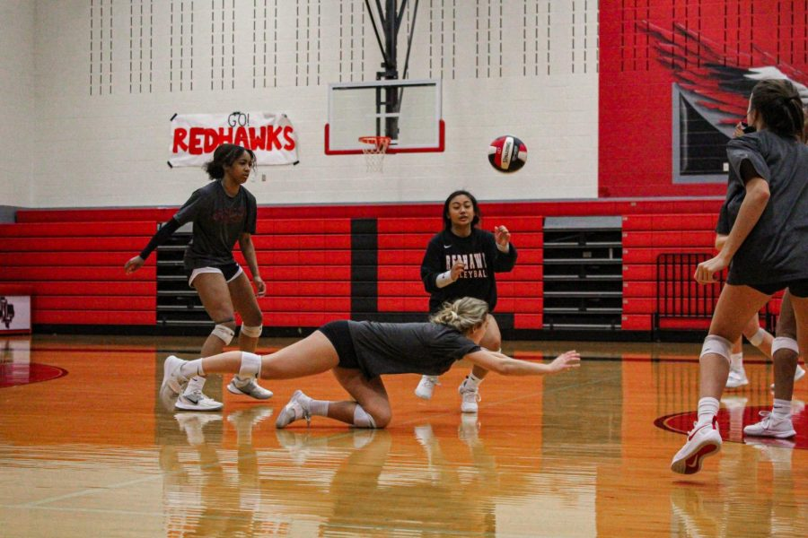 The volleyball team fell to Memorial 3-0 Saturday afternoon. However, the team is trying to look ahead to their first playoff game Friday.