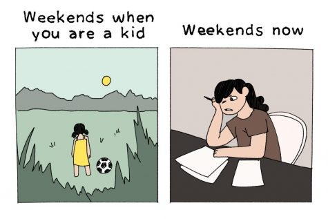 Weekends as a kid vs. as a teen