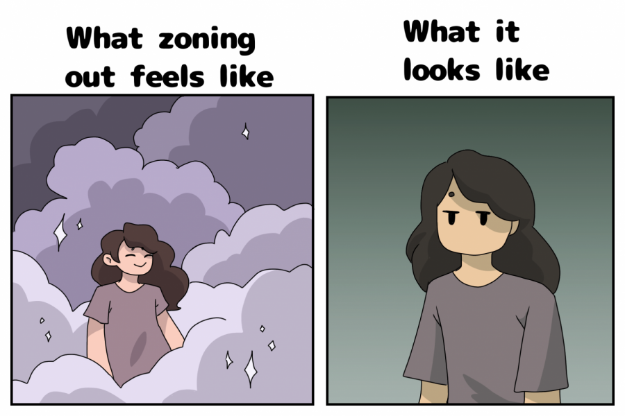 The look vs. the feeling of zoning out