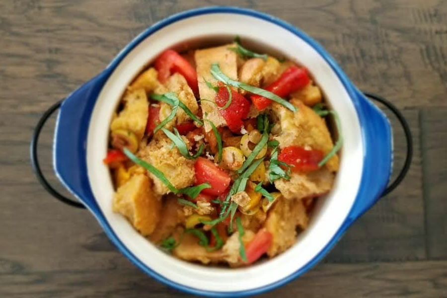 In this weeks Goodbye Gluten, Girish explains how to make Panzanella, a fresh Italian salad. With gluten-free bread and nutritious vegetables, this is perfect for anyone looking for a healthy and delicious meal.