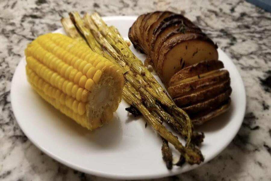 With the addition of butter, garlic, and balsamic glaze, in this weeks Goodbye Gluten Girish transforms a regular potation into a Hasselback potato for a gluten-free dish.