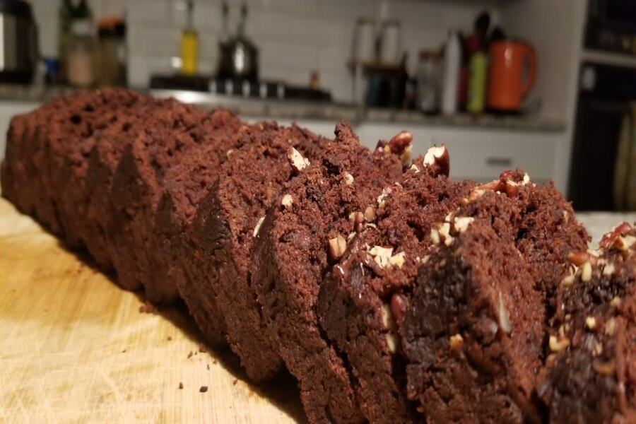 This week Girish satisfies ones sweet tooth with a gluten-free chocolate banana bread. This soft and gooey treat is the perfect way to end a meal but lacking the dietary restriction worries.
