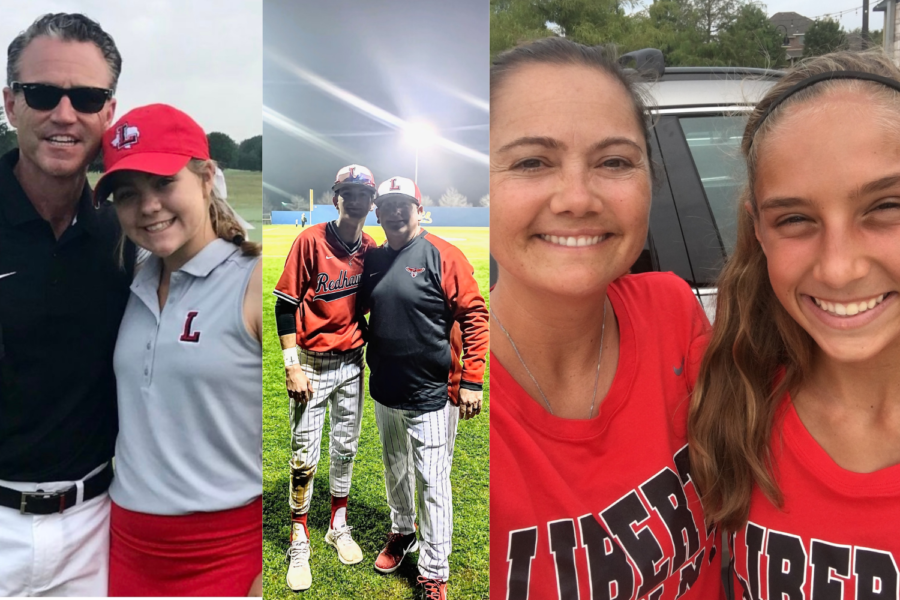 For three teams on campus, it's a family affair as there is a coach with a child on the team, including golf's Adam and Raleigh Davidson, baseball's Cade and Scott McGarrh, and tennis's Erica and Milla Dopson.