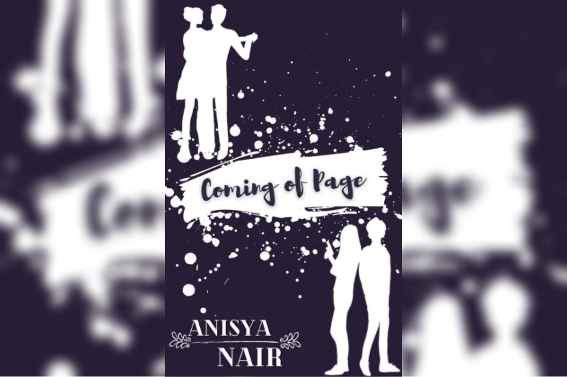 The cover of Coming of Page was illustrated by author Anisya Nair's friend, Zoya Farooqui. After finding inspiration from Pinterest and worked over many Zoom calls, Farooqui settled with the final silhouette design to reflect the classy, simplistic vibe of the book.