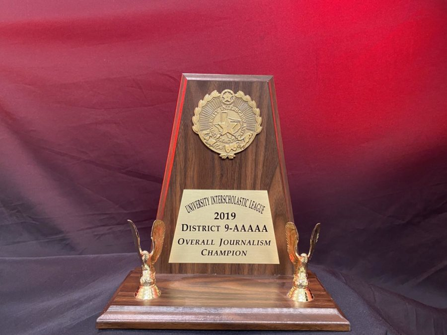 The school's UIL academic teams competed in the district 9-5A meet on Friday and Saturday at Centennial with the Redhawks finishing second overall losing to Centennial High School. For the journalism team, it was their second straight district championship.