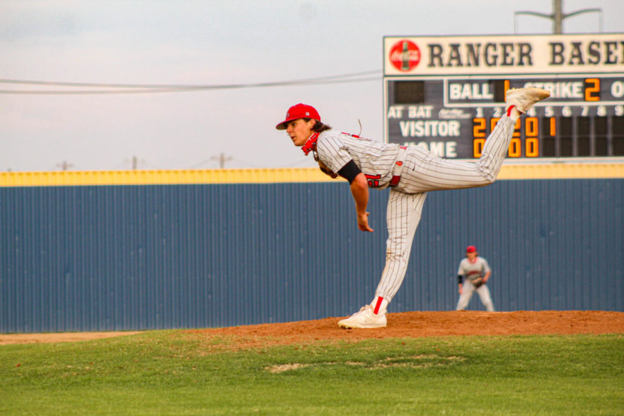Winding up for a big game against Wakeland on Tueday, the baseball team can clinch a playoff spot by beating the Wolverines. The two teams enter Tuesday's game with the Redhawks 1.5 games up on the Wolverines in the District 9-5A standings.