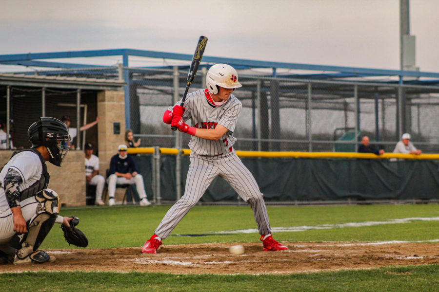 Getting+closer+to+playoffs%2C+the+Redhawk+baseball+team+competed+against+Wakeland+Tuesday+night+but+fell+short+with+a+6-1+loss.+
