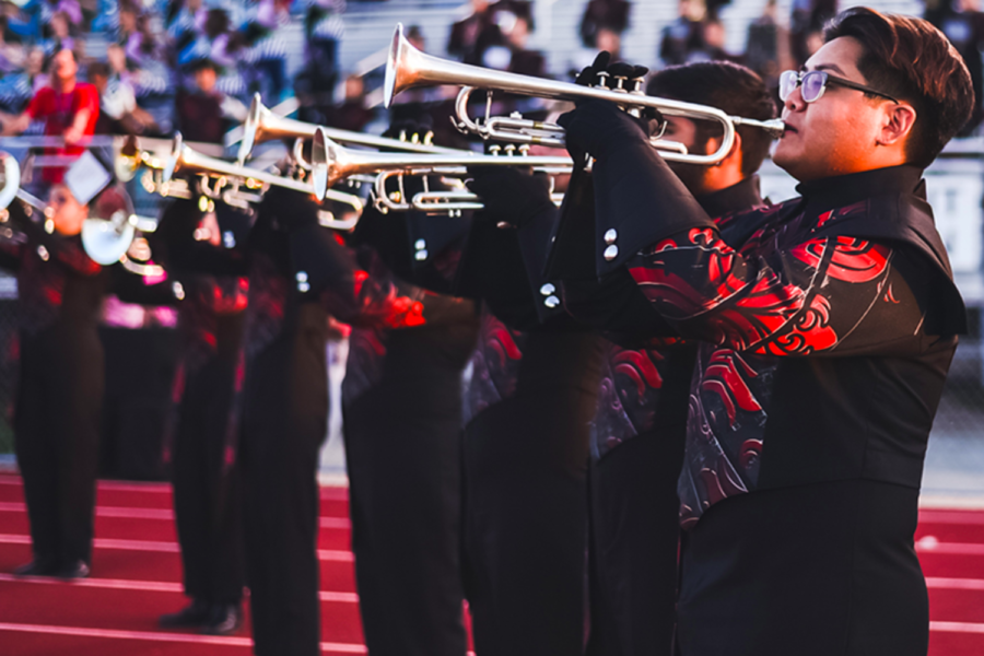 The Redhawk band is looking ahead to the 2021-2022 school year as the Band Leadership Team selection process is underway. Directors have had to adjust the process to acommodate both face-to-face and in-person students.
