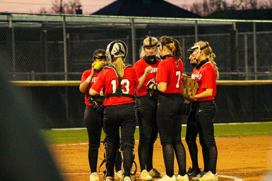 Looking for their first win of the District 9-5A season, the Redhawks softball team hits the road to face the Reedy Lions Friday at 7:15 p.m.