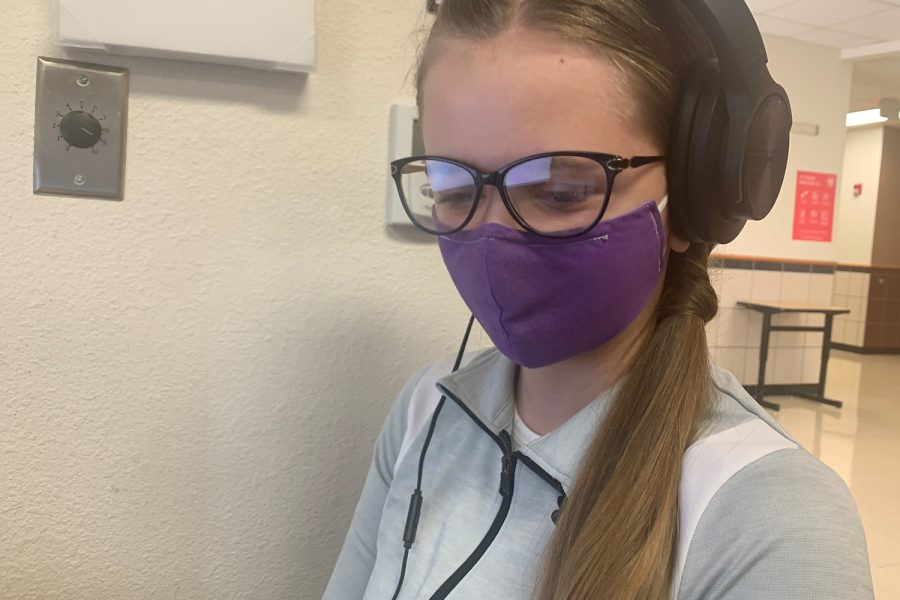 If and when COVID-19 is no longer a thing, Wingspan's Haille Hughes hopes that masks such as that being worn by freshman Ashton Hatch become part of a new normal.